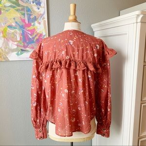 Free People Tops - Free People Country Floral Button Up with Lace